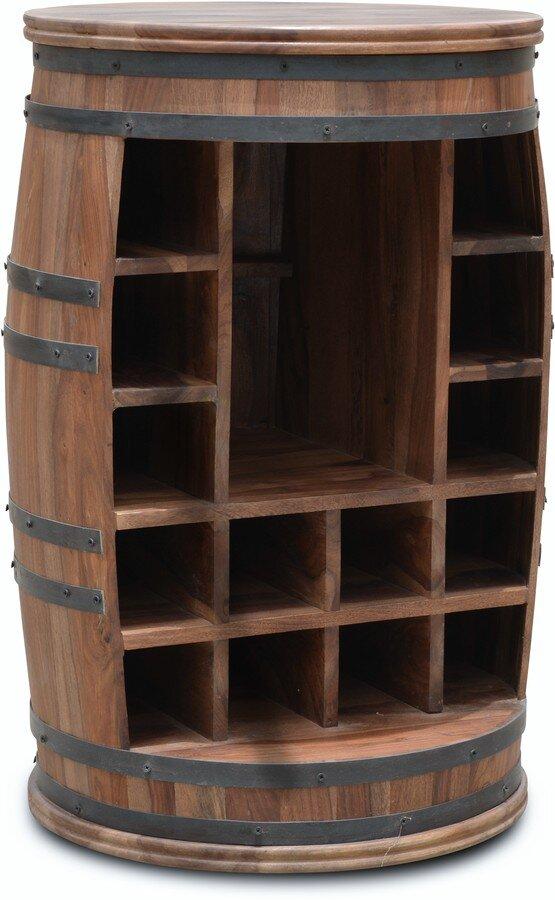 Vintønde barskab, Rosey-Jo by OBUZI (D: 55 cm. H: 80 cm., Mørk Natur/Sort)