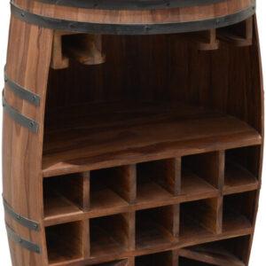 Vintønde barskab, Rosey-Zee by OBUZI (D: 65 cm. H: 105 cm., Mørk Natur/Sort)