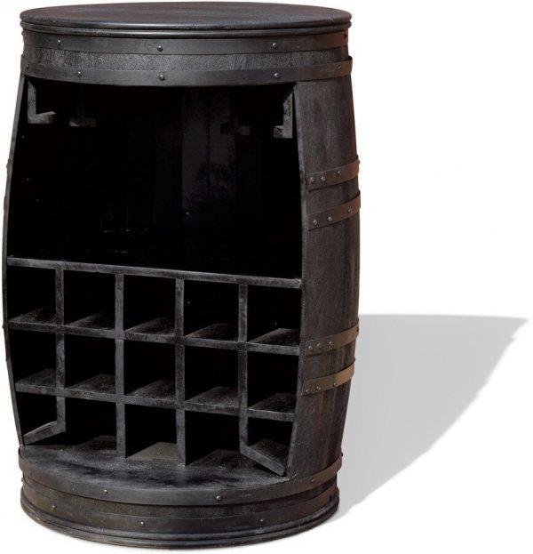 Vintønde barskab, Rosey-Black by OBUZI (D: 65 cm. H: 90 cm. B: 65 cm. L: 65 cm., Sort)