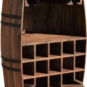 Vintønde barskab, Rosey by OBUZI (D: 65 cm. H: 90 cm., Mørk Natur/Sort)