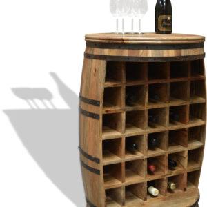 Vintønde barskab, Rosey-O Raw by OBUZI (D: 65 cm. H: 90 cm., Natur/Sort)
