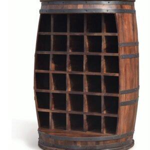 Vintønde barskab, Rosey-O by OBUZI (D: 65 cm. H: 90 cm., Mørk Natur/Sort)