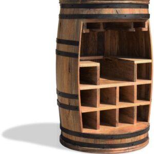 Vintønde barskab, Rosey-Say Raw by OBUZI (D: 55 cm. H: 80 cm., Natur/Sort)