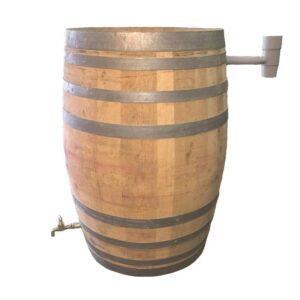 Regnvandstønde i egetræ, 225 liter