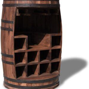 Vintønde barskab, Rosey-Say by OBUZI (D: 55 cm. H: 80 cm., Mørk Natur/Sort)